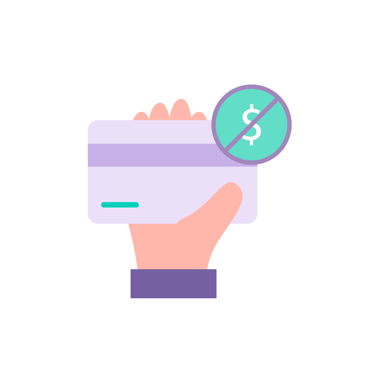 Customers do not pay fee icon