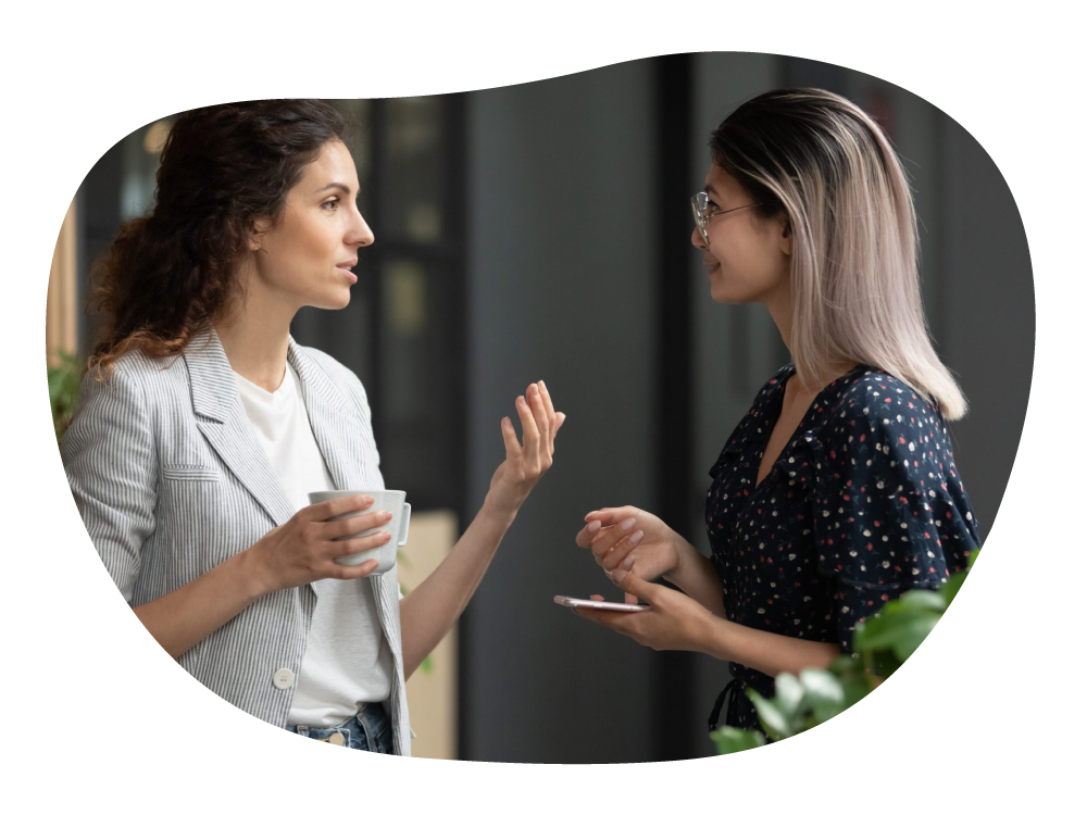 Business women discussing about partnership deal
