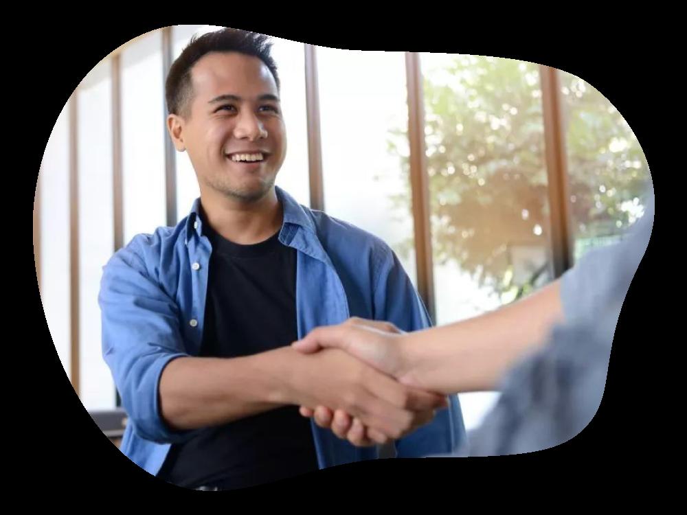 Business handshake to confirm partnership